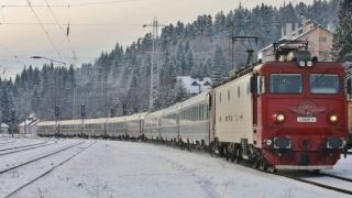 Trenurile circulă în condiții de iarnă, la temperaturi foarte scăzute
