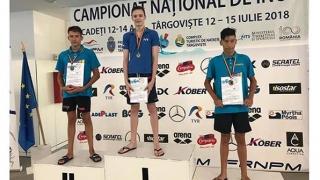 Cadet constănțean, triplu campion la înot! A fost crescut de Răzvan Florea!