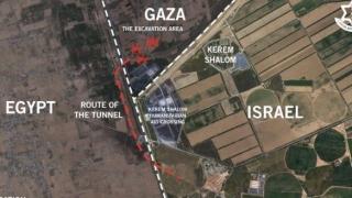 Israelul a bombardat tunelul secret al palestinienilor din Fâșia Gaza.  Cele mai grave bombardamente din ultimii ani!