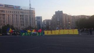 Protest în Piața Victoriei împotriva amendamentelor aduse la legea grațierii