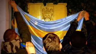 SCANDALOS! Ambasada României de la Budapesta, vandalizată de extremiști