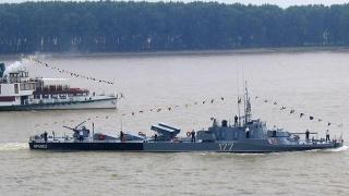 Vedete militare în marș pe Dunăre
