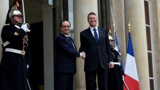 Iohannis, la discuţiile cu Hollande: E un bun prilej să aprofundăm parteneriatul strategic