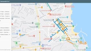 Hartă interactivă pentru vizualizarea distinctă a parcărilor din Constanța