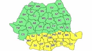 Cod galben de caniculă în 17 județe din sudul țării