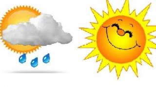 Meteo: Luni, cald! Marți, semne de ploaie.