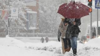 Vânt, ninsori și polei în Dobrogea!
