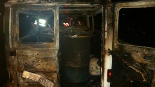 Incendiu pe A4! Autoutilitară care transporta motorină, cuprinsă de flăcări!
