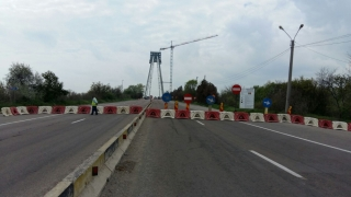 Podul vechi de la Agigea se închide complet începând de luni