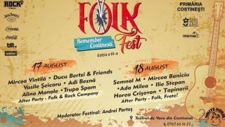 Nume importante din muzica folk! La Folk Fest Remember Costinești!
