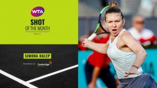 Halep, prima în ancheta WTA pentru lovitura lunii mai