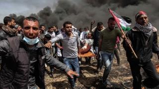 Zeci de copii, ucişi în cursul manifestaţiilor din Fâşia Gaza
