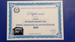 Zip Escort, Zip Security Sistems și Vip Escort Security,  în topul județean al firmelor constănțene