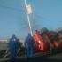 Accident rutier! Un utilaj s-a răsturnat pe podul de la Năvodari!
