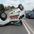 Ambulanță răsturnată la ieșirea din Ovidiu. Cinci persoane rănite!