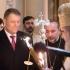 Președintele Iohannis și soția au participat la Sluba Învierii de la Patriarhie