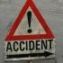 Accident în județul Gorj. A lovit un stâlp de electricitate și a fugit