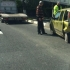 Mașină făcută praf la intrare în Eforie Sud