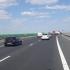 Accident grav pe A2. Autoturism pe parapetul Autostrăzii Soarelui