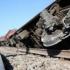 Tren DERAIAT şi cu locomotiva în flăcări, în Constanţa! Are 34 de vagoane