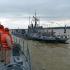 Atenție, se trage pe Dunăre! Ce fac navele militare la Măcin
