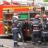 Un autobuz a luat foc în timpul dezmembrării