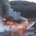 Panică pe șosea! Un autocar a luat foc în mers!
