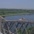 A escaladat Podul de la Cernavodă cu bicicleta. Poliția n-a apreciat!
