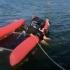 Video. Catamaran răsturnat în zona 2 Mai