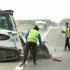 Două dale de beton s-au ridicat pe Autostrada Soarelui. Restricție de viteză