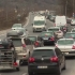 Drumurile spre munte, blocate de un accident și de un TIR care a luat foc