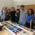 Studenții facultăților de Arte și Istorie participă la un Atelier de icoane pe sticlă