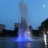 Lumină și culoare pentru fântâna din Parcul Gării