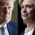Avansul democratei Hillary Clinton faţă de Donald Trump, în scădere