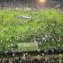 Haos în tribune, creat de fanii turci, la startul meciului Olympique Lyon-Beşiktaş