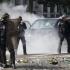Incidente între manifestanți și polițiști în Paris