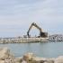 Lucrările de reducere a eroziunii costiere din Eforie continuă în ritm susținut