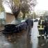 Mașină în flăcări în cartierul Faleză Nord