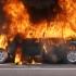 Un autoturism a fost cuprins de flăcări în Mihail Kogălniceanu