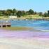 Galerie FOTO. Nivelul Lacului Techirghiol a scăzut cu aproximativ un metru