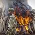 Președintele kenyan a dat foc la 105 tone de fildeș
