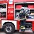 Autoturism cuprins de flăcări în fața Prefecturii Constanța