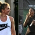 Simona Halep, lovită cu mingea de Serena Williams la un meci demonstrativ