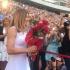 Trofeul de la Wimbledon, prezentat de Simona Halep în faţa a mii de români