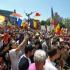 Incidente la marşul unioniştilor din București. Cinci manifestanți reclacitranți, ridicați de jandarmi