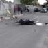 Accident la Năvodari! Un motociclist a dărâmat un stâlp și a fugit!